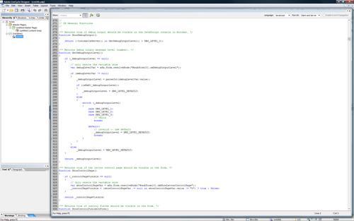 Maximized Script Editor palette