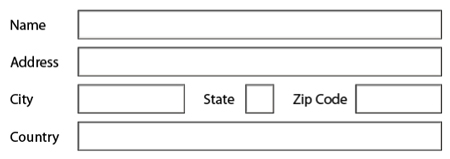 No asterisks by default on mandatory fields in the PDF