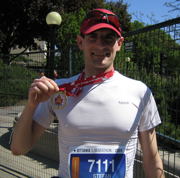 With my Finishers Medal just outside Confederation Park